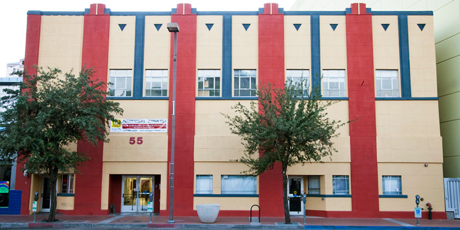 Imago Dei is located in the heart of downtown Tucson at 55 N. 6th Avenue, between Congress and Pennington.