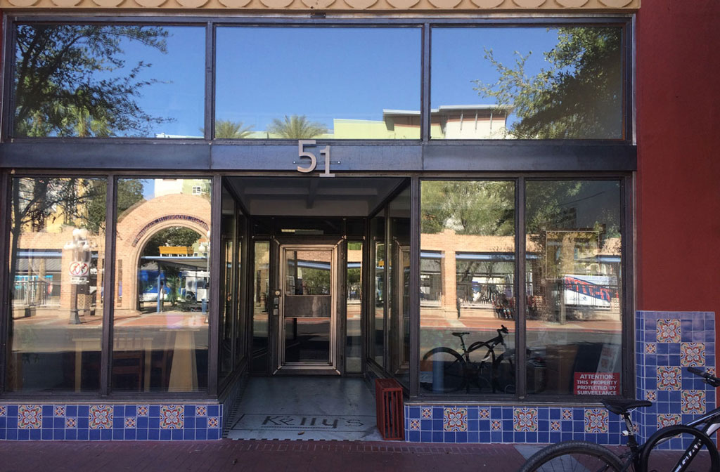 Our new and improved Chapel facade reflects life in busy downtown Tucson.
